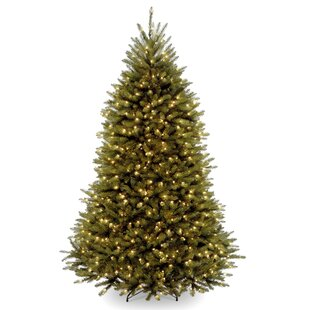 dunhill green fir artificial christmas tree with 600 clear lights with stand - Fully Decorated Christmas Tree For Sale