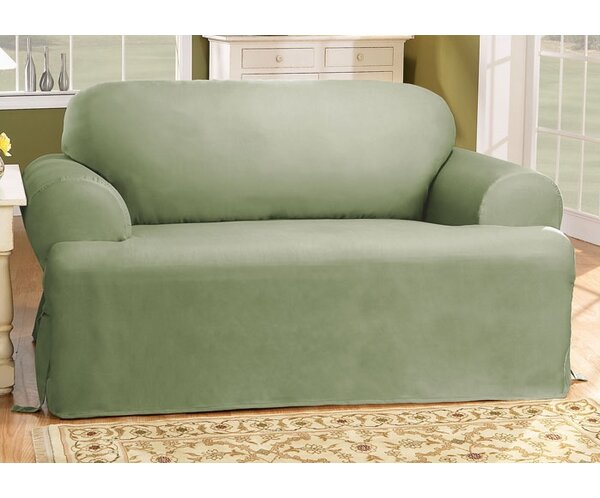 - Sure Fit Cotton Duck T-Cushion Sofa Slipcover & Reviews Wayfair