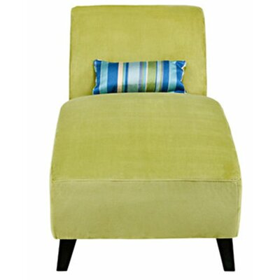 Ebern Designs Braemar Chaise Lounge Upholstery: Green