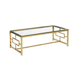 Stainless Steel and Glass Coffee Table by Sa..