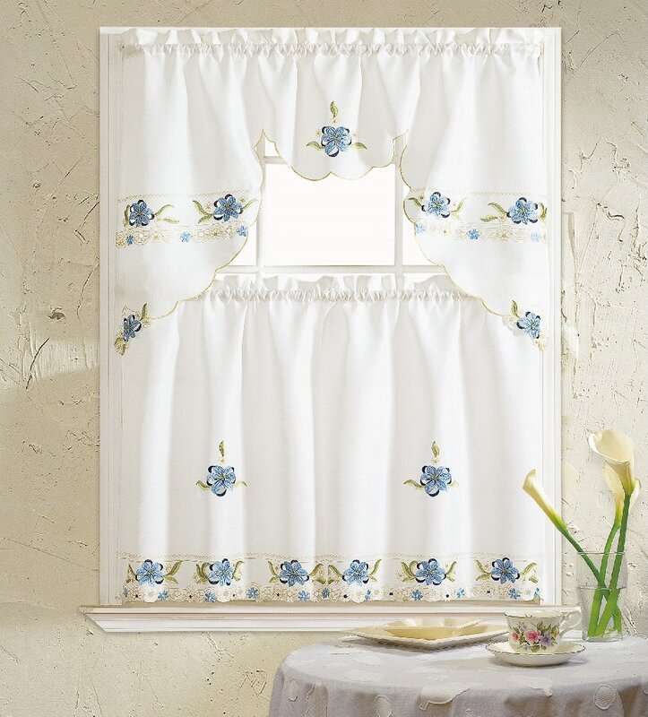 Polsky 3 Piece Kitchen Curtain Set & Reviews