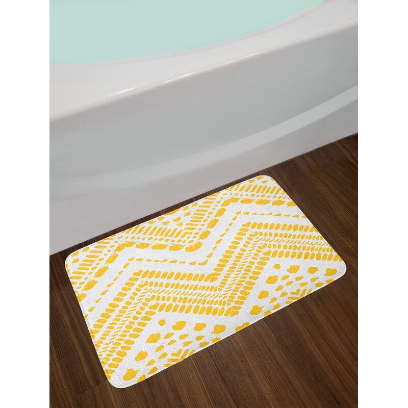 Lovely orange Memory Foam Bath Mat