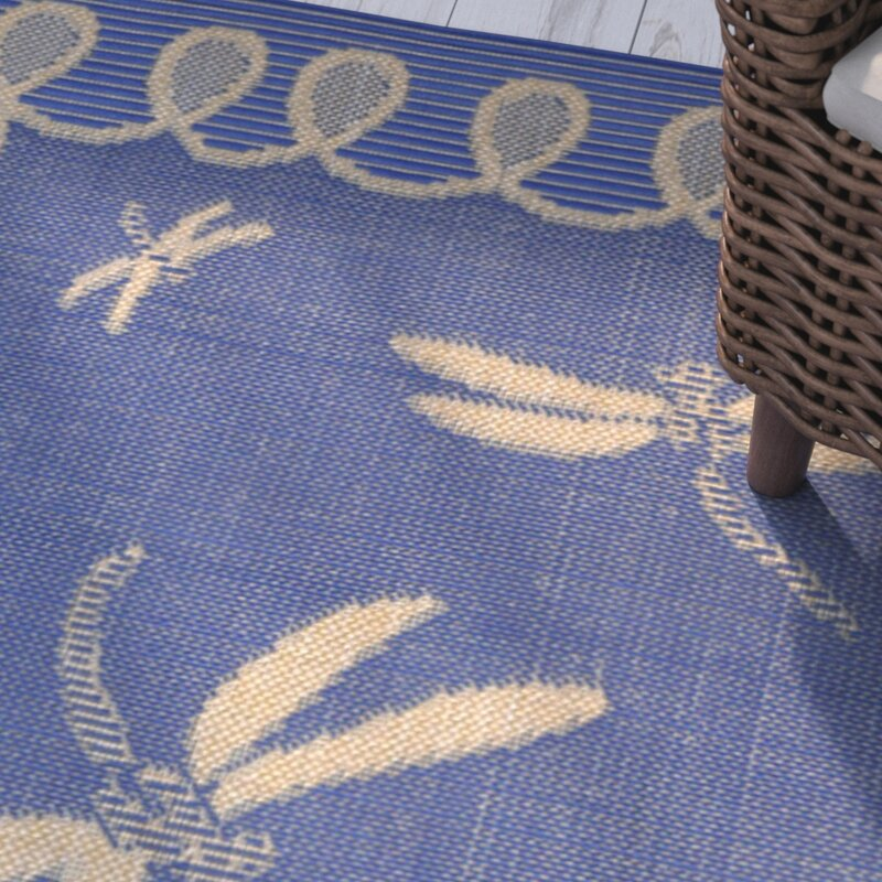 Clatterbuck Blue Dragonfly Indoor/Outdoor Area Rug