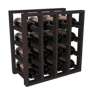 Karnes Pine Lattice 16 Bottle Tabletop Wine Rack