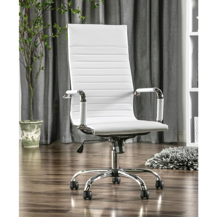 96 Silver Desk Chair White Silver Class Act Desk