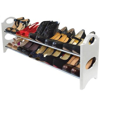2tier 10 pair stackable shoe rack