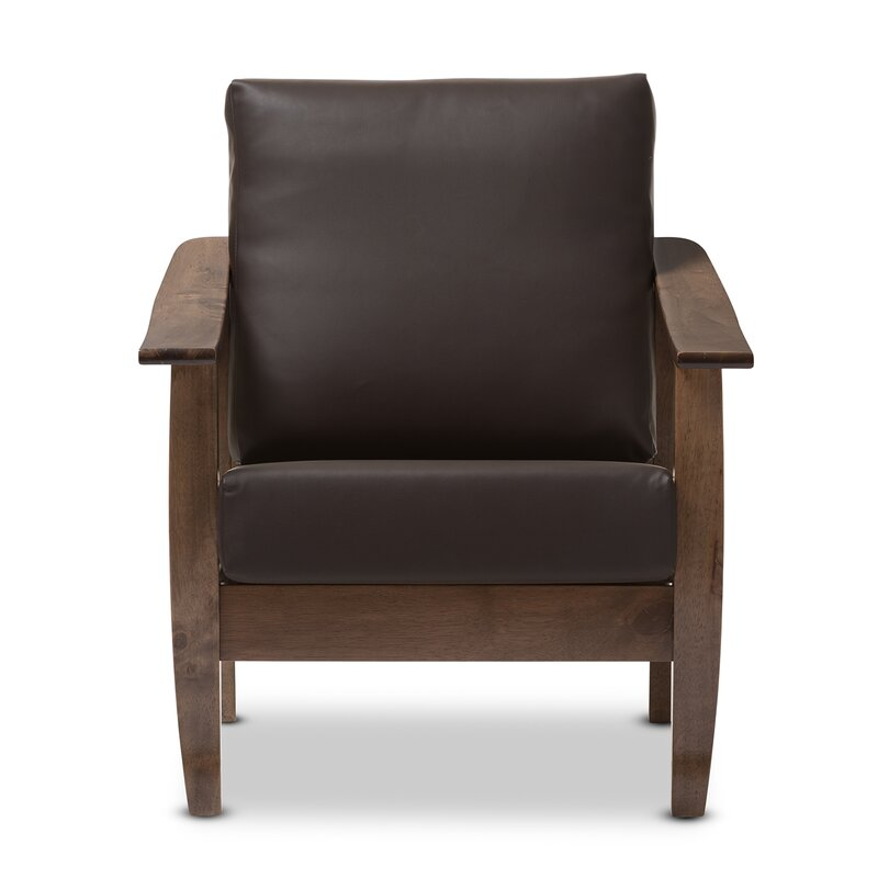 Superbe Naccarato Faux Leather Armchair