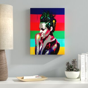 Afro Punk Graphic Art Print On Wred Canvas