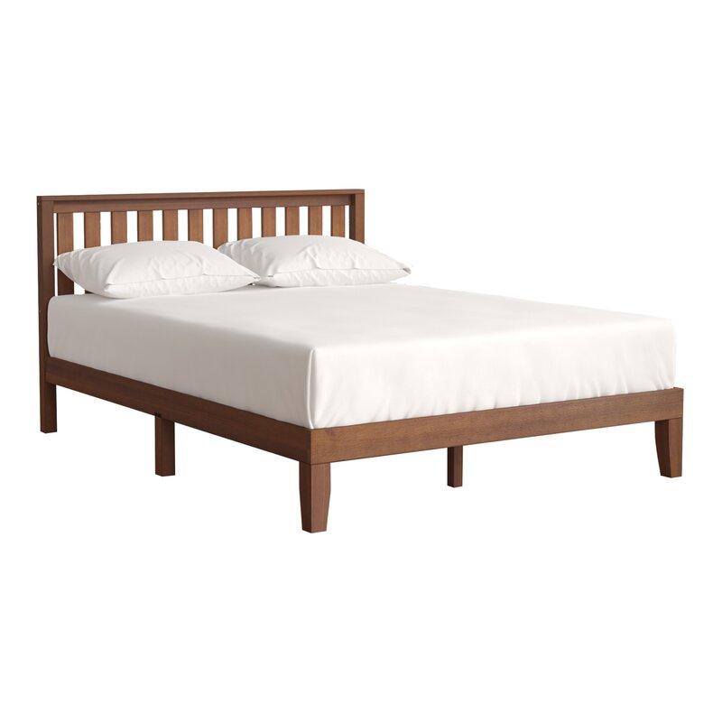 dalila solid wood platform bed - Wooden Platform Bed Frame
