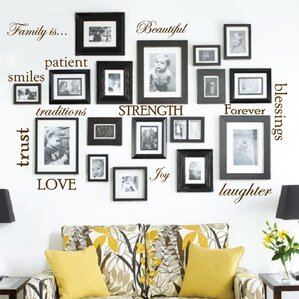 wall sticker designs for living room. 12 Family Quote Words Vinyl Wall Decal Decals You ll Love  Wayfair