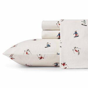 Ski Slope Flannel Sheet Set