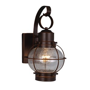 Eugene Nautical 1 Light Outdoor Wall Lantern