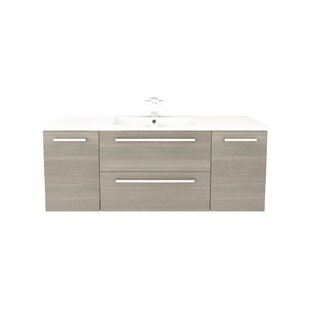 "Silhouette 48"" Wall-Mounted Single Bathroom Vanity Set"