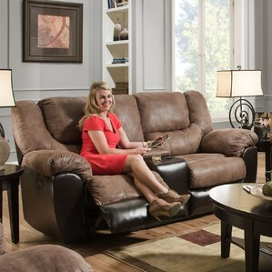 Simmons Upholstery Derosier Motion Reclining Loveseat by Darby Home Co