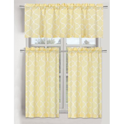 Yellow & Gold Valances & Kitchen Curtains You'll Love in ...