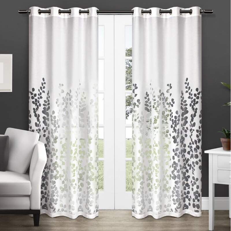 Stanton Nature/Floral Room Darkening Grommet Curtain Panels