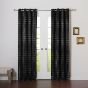 Modern Plaid Room Darkening Curtain Panels (Set of 2)