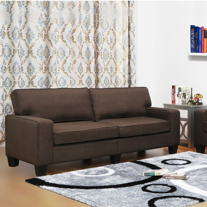 Jordan linen modern living room sofa reviews birch lane for Jordan linen modern living room sofa