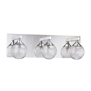 Modern clearglass shade vanity lighting allmodern chesterton 3 light vanity light mozeypictures Image collections