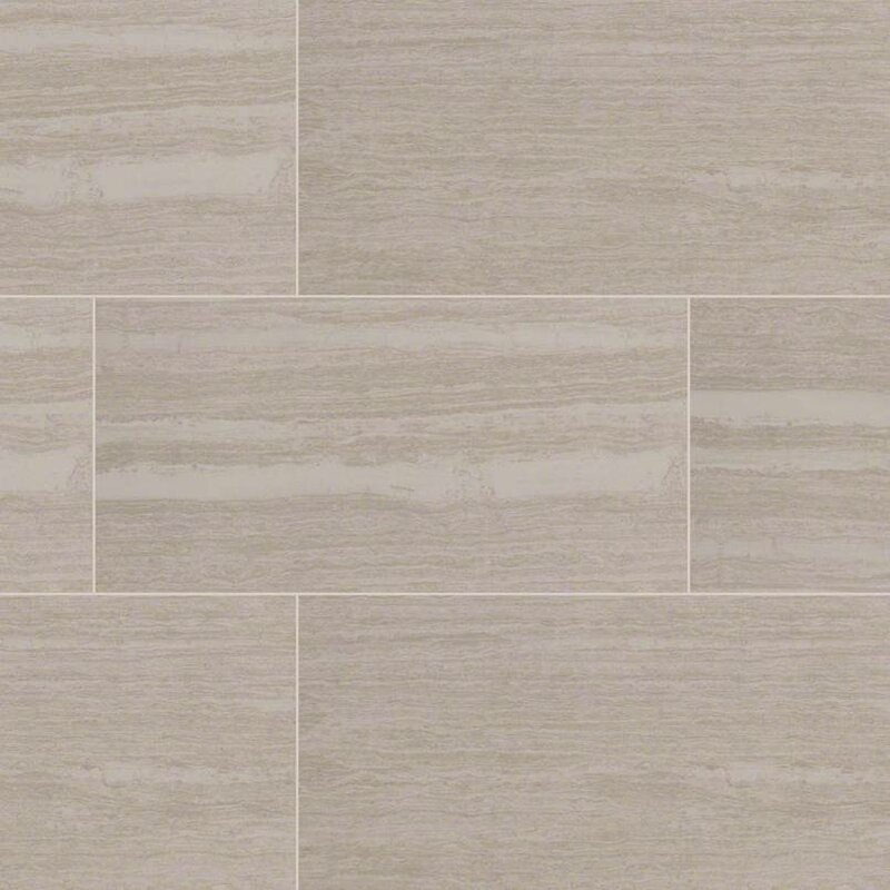 Msi Orion Blanco 12 X 24 Porcelain Wood Lookfield Tile In White