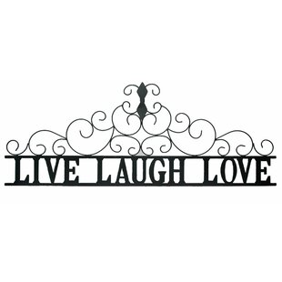 Metal Wall Art Live Laugh Love Wall Decor
