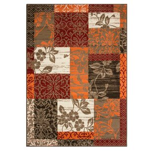Hamish Brown/Orange Rug by Longweave