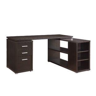 modern desk with storage hidden cable storage quickview modern desks allmodern