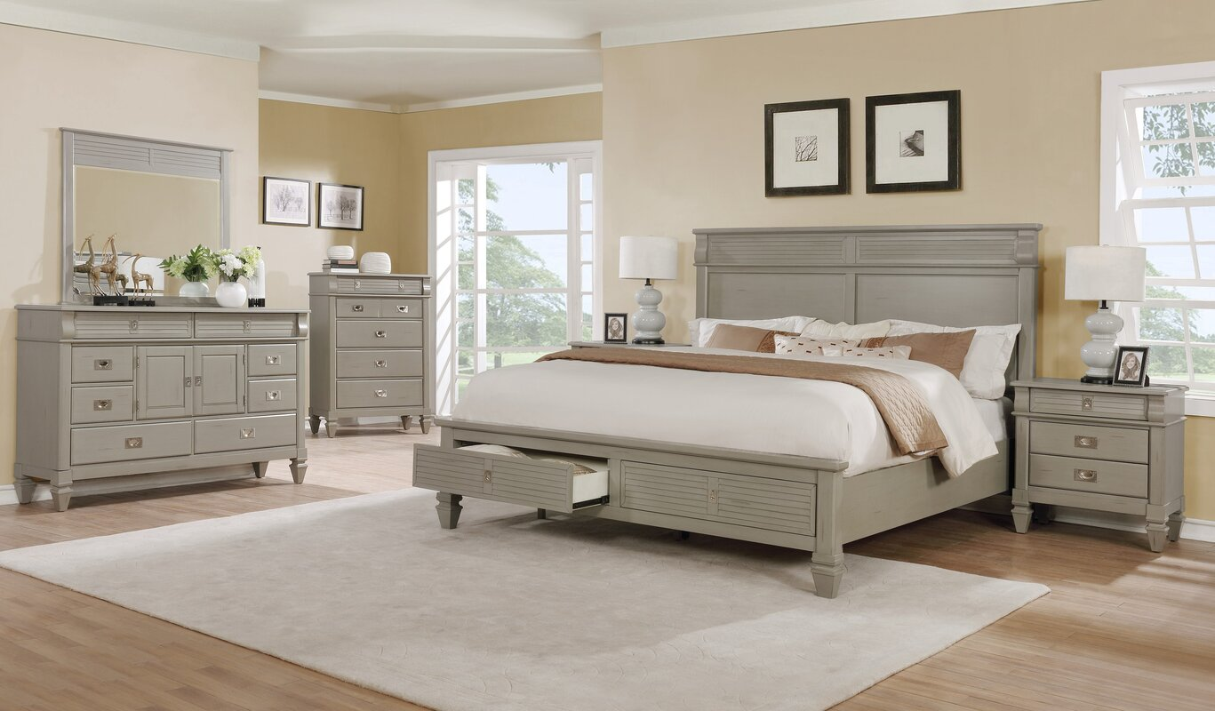Vasilikos Solid Wood Construction Platform 6 Piece Bedroom Set Interior Bedroom Ideas ookie1.com