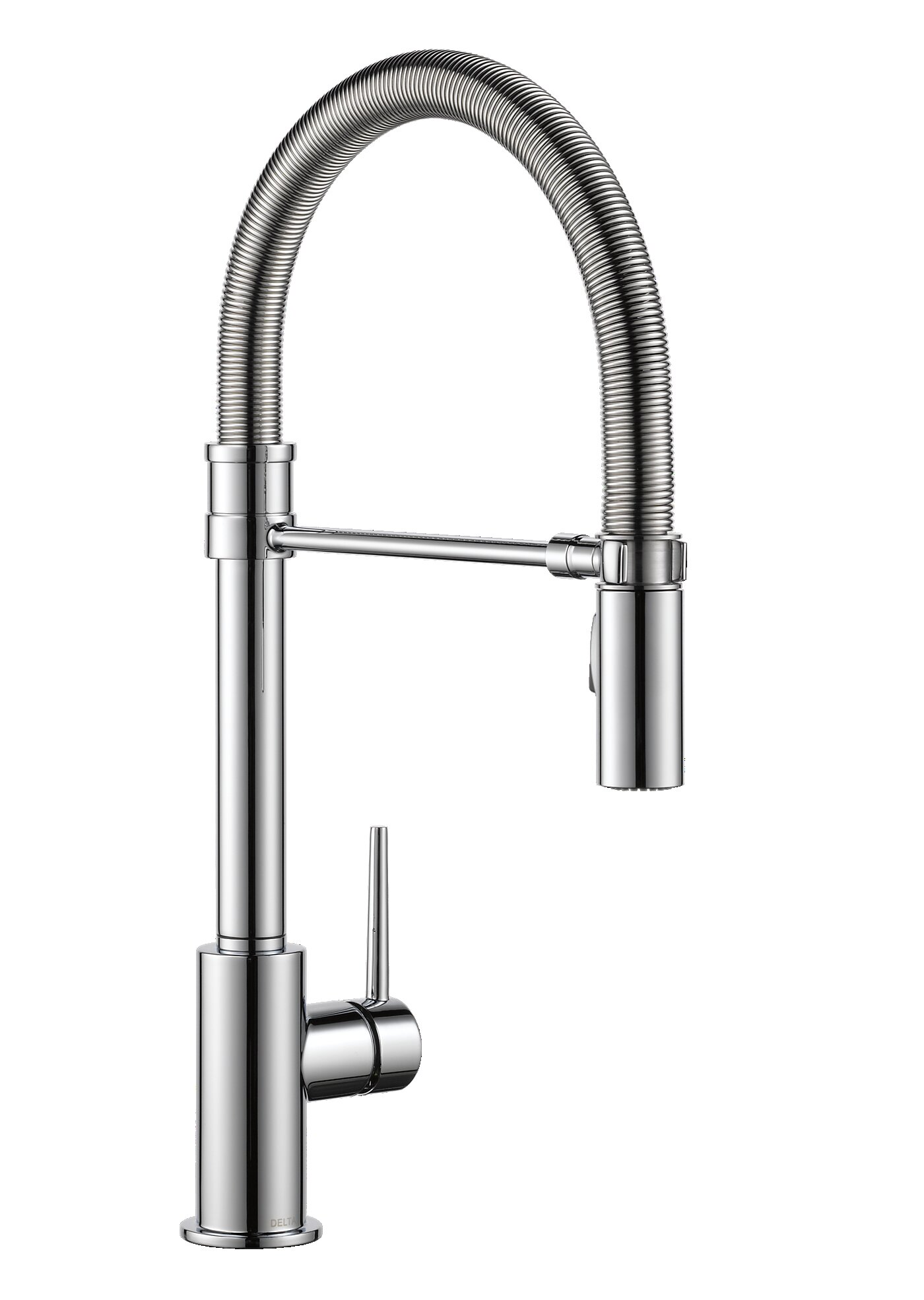 faucet nickel brass c fluxe satin pull kitchen down huntington