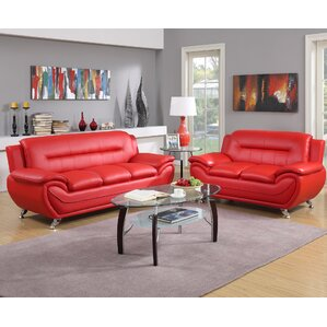 Red Living Room Sets Youll Love Wayfair