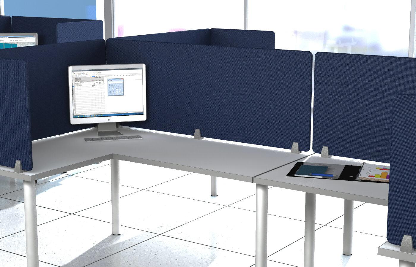Merge Works Enclave Panel Fabric Fold Desk Divider | Wayfair