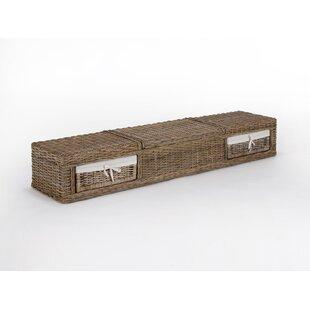 Barika Kubu-Rattan Storage Hallway Bench by Massivum