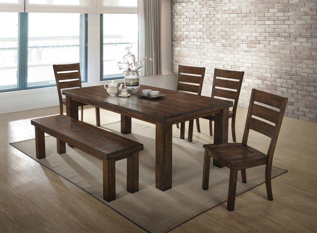 Loon Peak Morefield 6 Piece Dining Table Set & Reviews | Wayfair