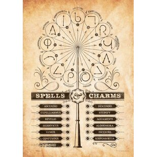 Harry Potter Spells And Charms Graphic Art Print