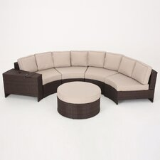 Bischof 6 Piece Sectional Seating Group with Ottoman