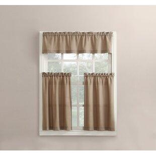Brown Kitchen Valances U0026 Kitchen Curtains Youu0027ll Love | Wayfair