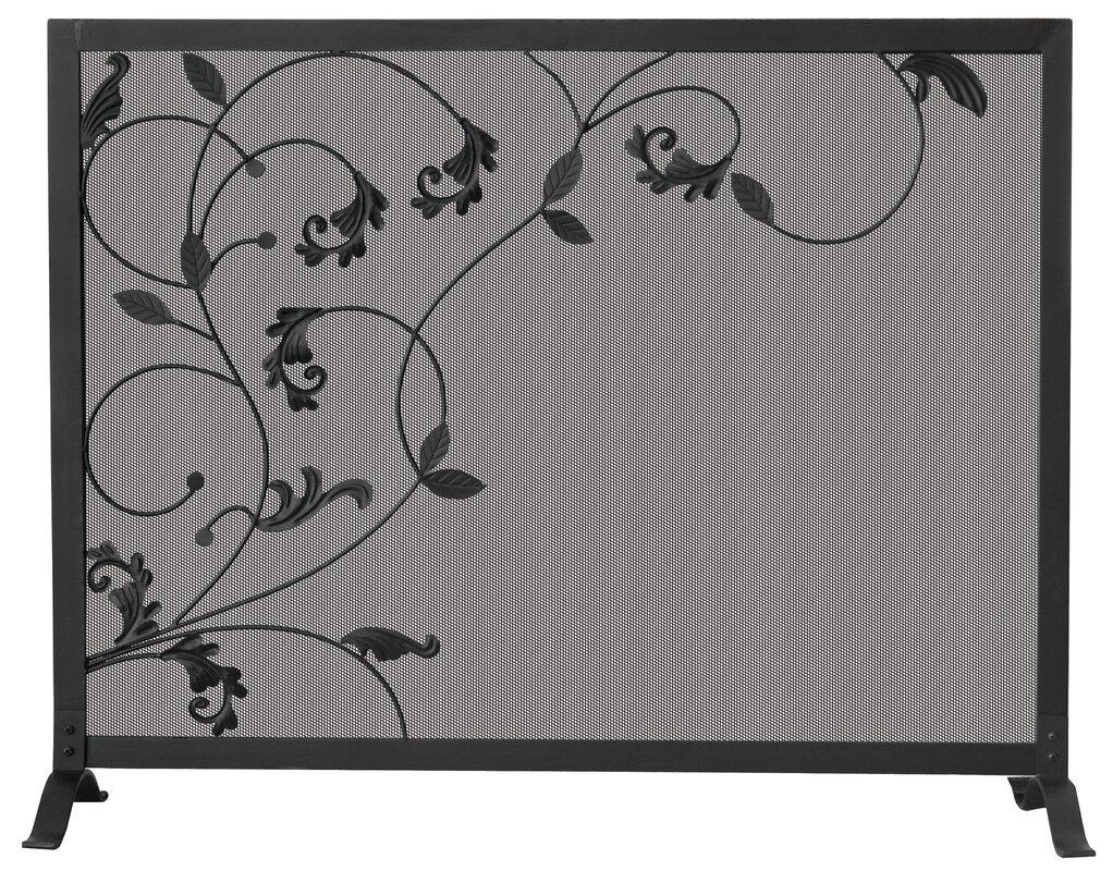 uniflame single panel wrought iron screen u0026 reviews wayfair