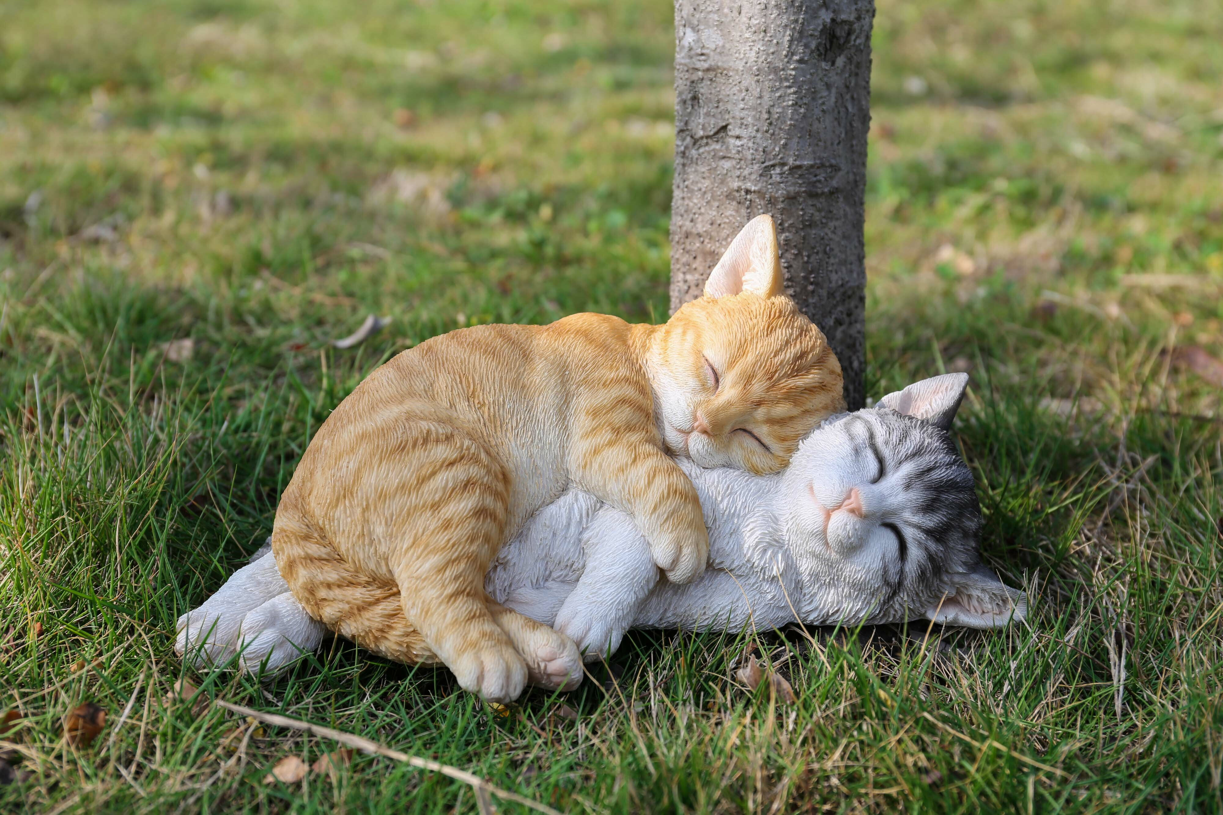 Hi Line Gift Ltd Tabby Cats Sleeping Statue Reviews Wayfair