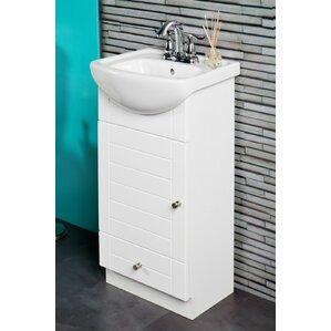 petite 16 single bathroom vanity set