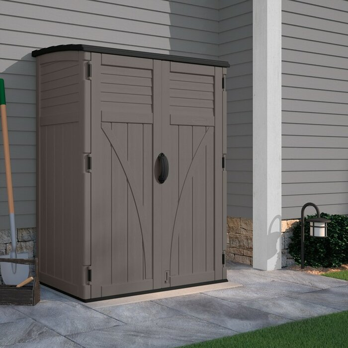 vertical x w outdoor d plastic pdx tool in sheds suncast shed ft