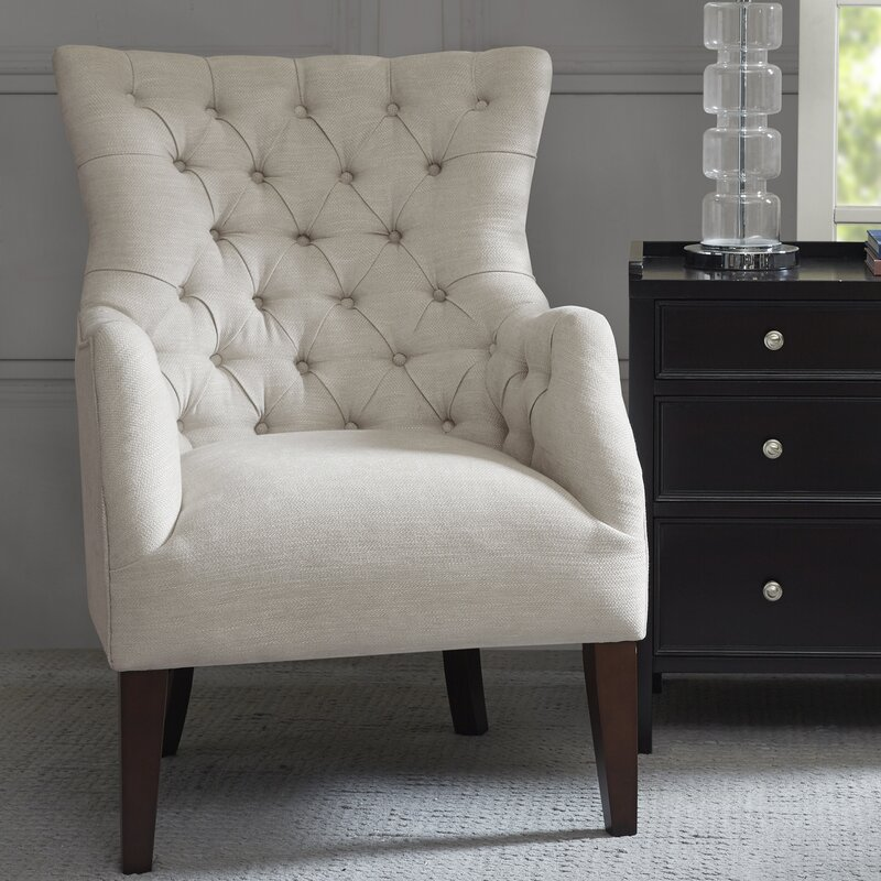 Steelton Button Tufted Wingback Chair