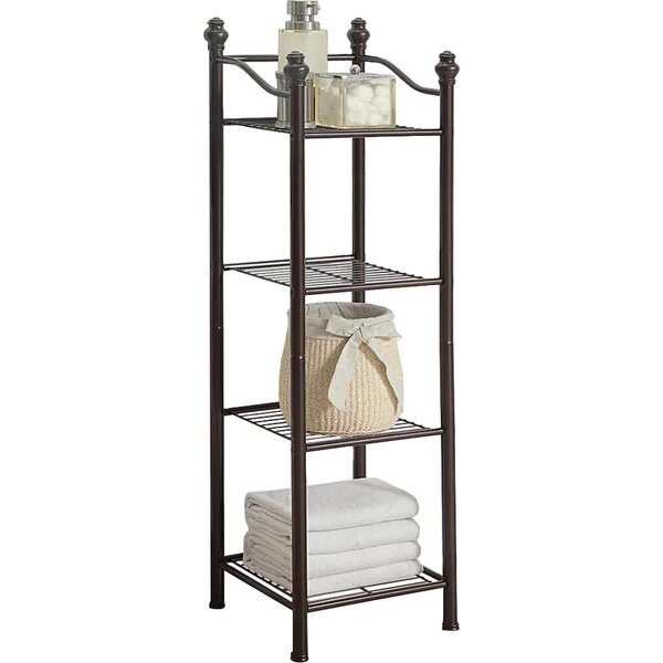 Free Standing Bathroom Shelving You\'ll Love | Wayfair