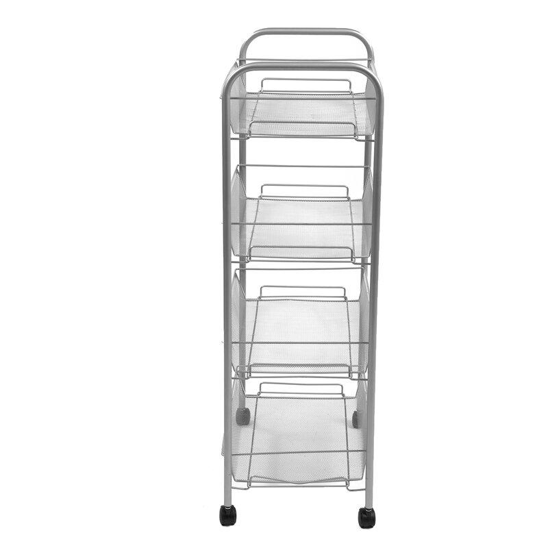 Bon 4 Tier Mobile Office Utility Cart