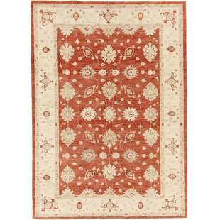 Fairborn Hand Knotted Wool Red Rug by Rosalind Wheeler