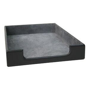 genuine leather executive desk letter tray organizer - Desk Organizer Tray