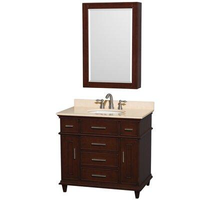 Berkeley 34  Single Dark Chestnut Bathroom Vanity Set with Medicine CabinetB I Direct Imports Brighton 34  Single Bathroom Vanity Set  . 34 Bathroom Vanity. Home Design Ideas
