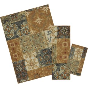 3 Piece Rug Set With Runners Wayfair