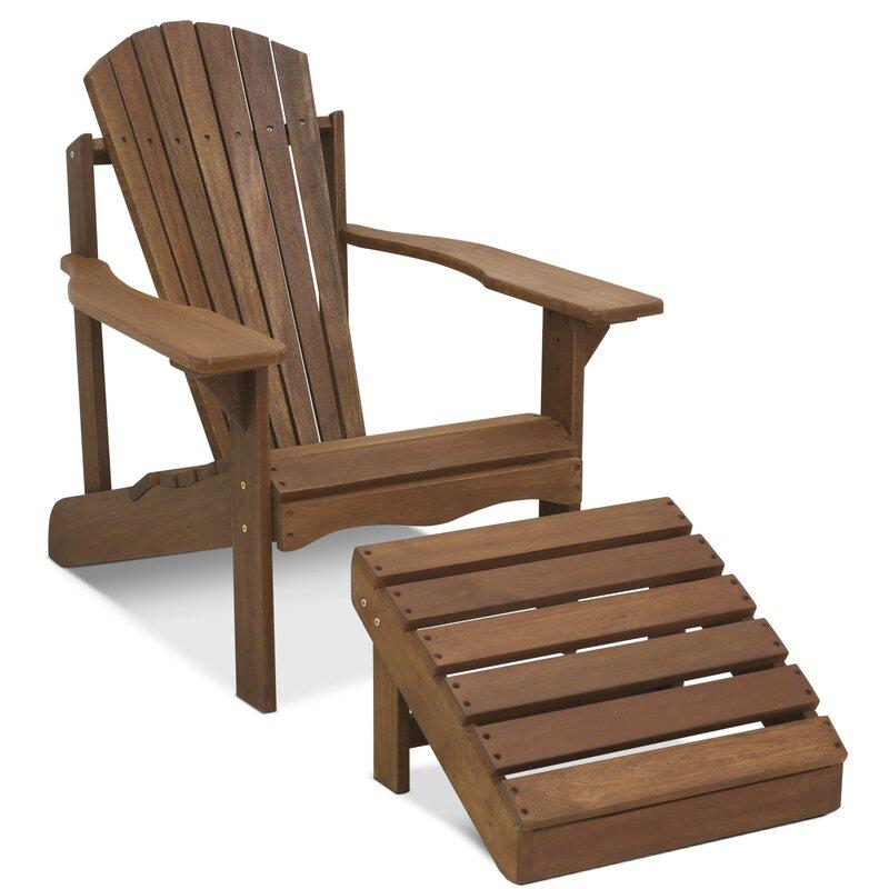 Langley street arianna teak hardwood adirondack patio for Outdoor furniture langley