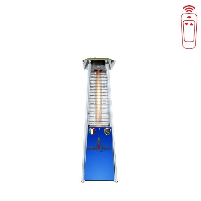 LED Color Base Flame 11,000 BTU Propane Tabletop Patio Heater