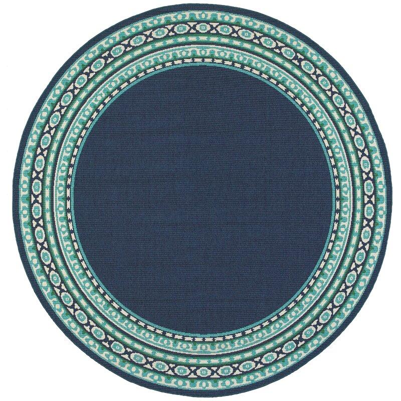 Green Navy Rug: Kailani Navy/Green Indoor/Outdoor Area Rug & Reviews